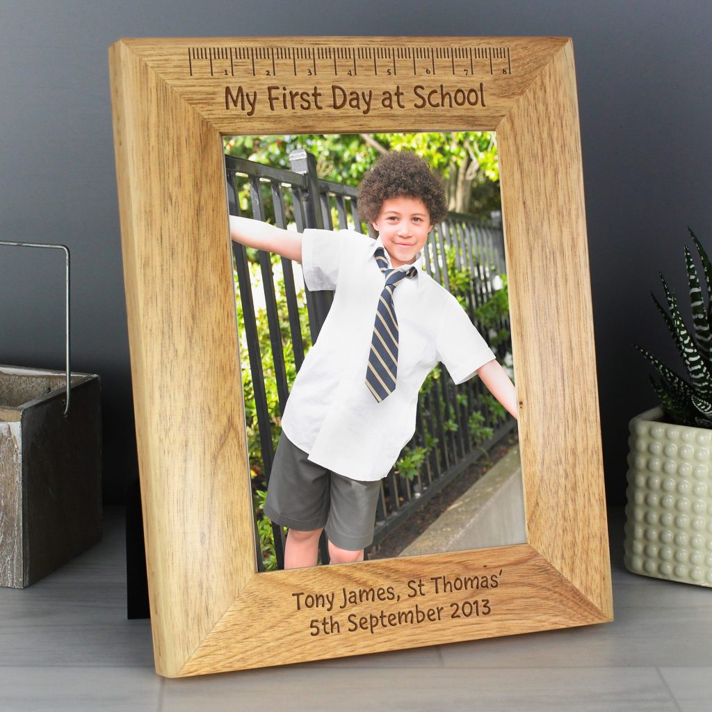 My First Day at School 5×7 Wooden Photo Frame