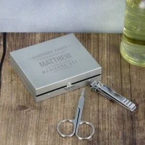 Personalised Handsome Hands Manicure Set