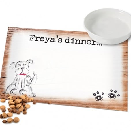 Personalised Scribble Dog Placemat