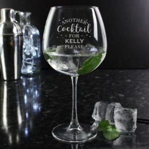 Personalised Cocktail / Gin Glass