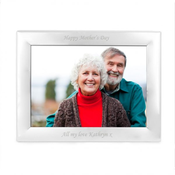 Personalised Silver Plated 7x5 Landscape Photo Frame