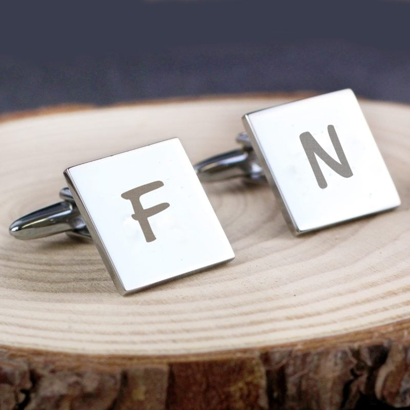 Personalised Square Cufflinks Initial