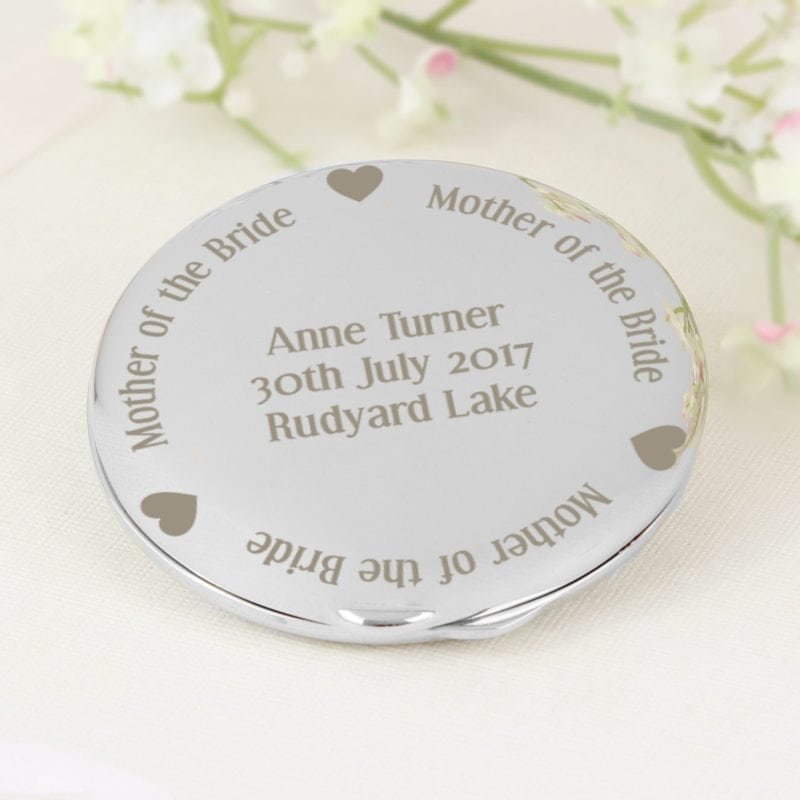 Personalised Mother of the Bride Compact Mirror