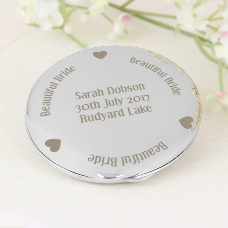Personalised Beautiful Bride Compact Mirror