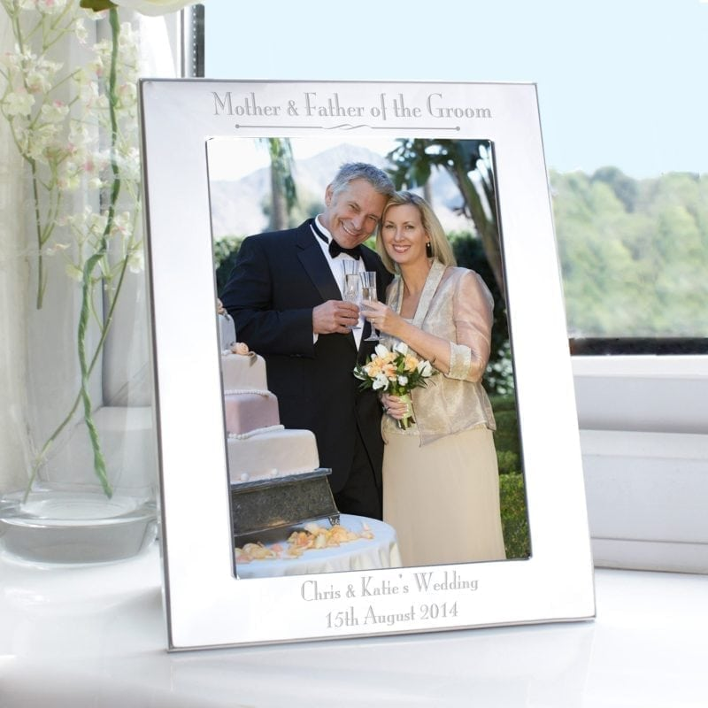 Personalised Silver 5x7 Decorative Mother & Father of the Groom Photo Frame