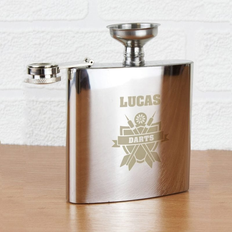 Personalised Darts Hip Flask