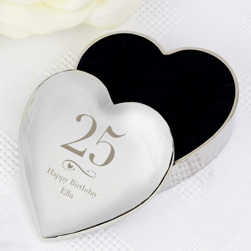 Personalised Big Age Heart Trinket Box