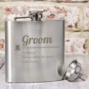 Personalised Groom Hip Flask
