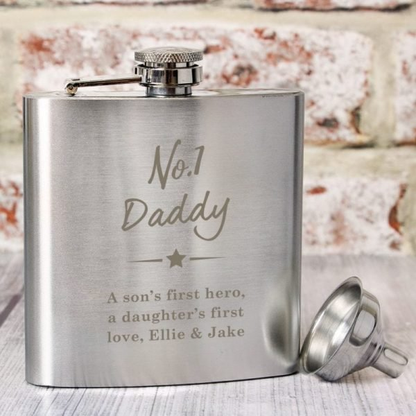 Personalised No.1 Hip Flask