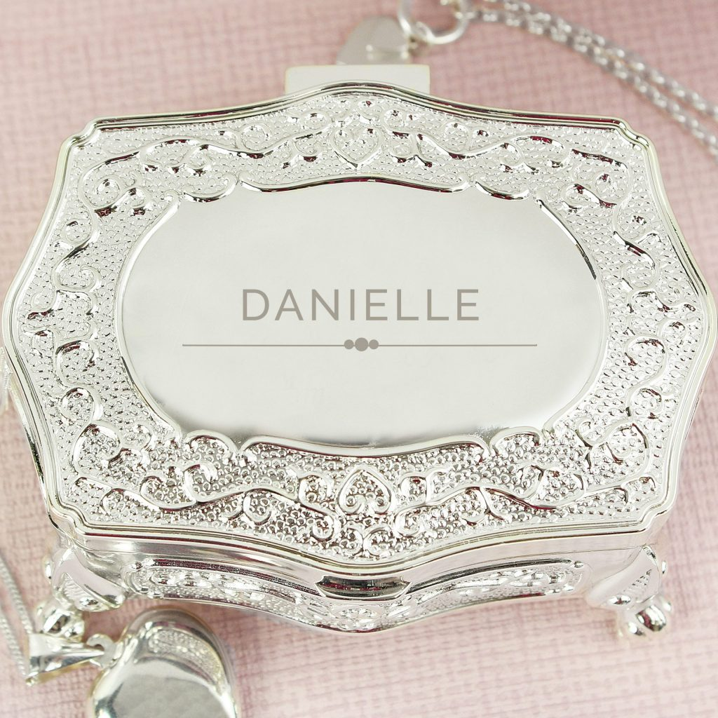Personalised Classic Small Antique Trinket Box
