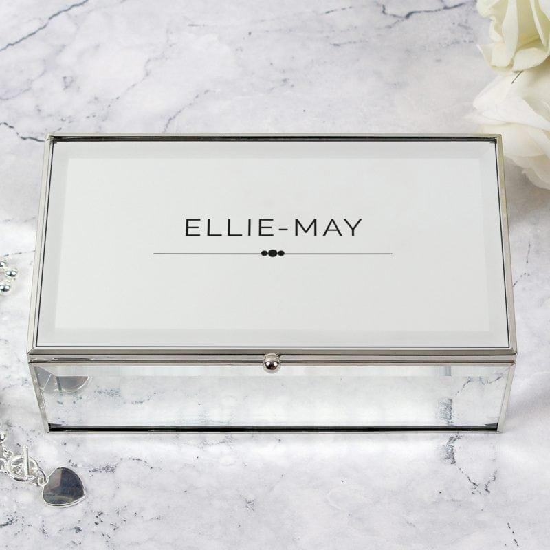 Personalised Classic Mirrored Jewellery Box