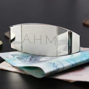 Personalised Classic Initial Money Clip