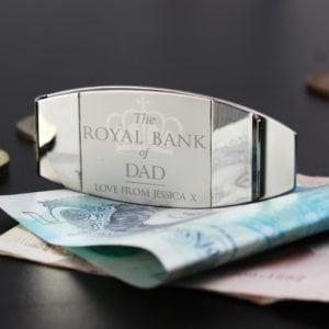 Personalised 'Royal Bank of...' Money Clip