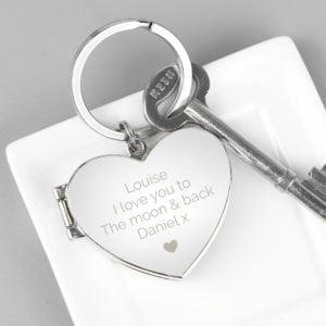 Personalised Heart Photoframe Keyring