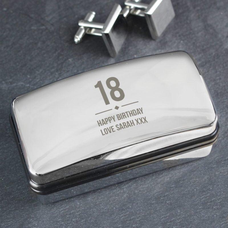 Personalised Big Age Cufflink Box