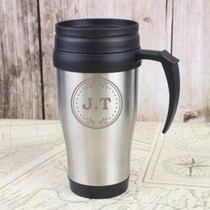 Personalised Monogram Travel Mug