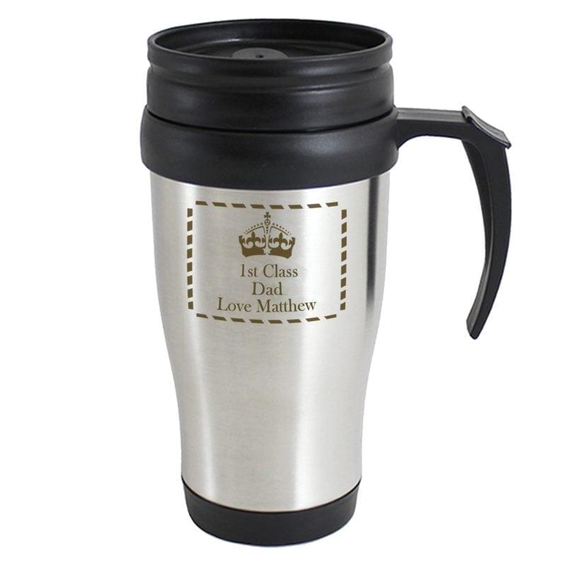 Personalised Crown Travel Mug