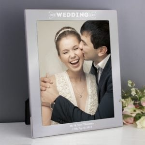 Personalised Our Wedding Day Silver 8x10 Photo Frame