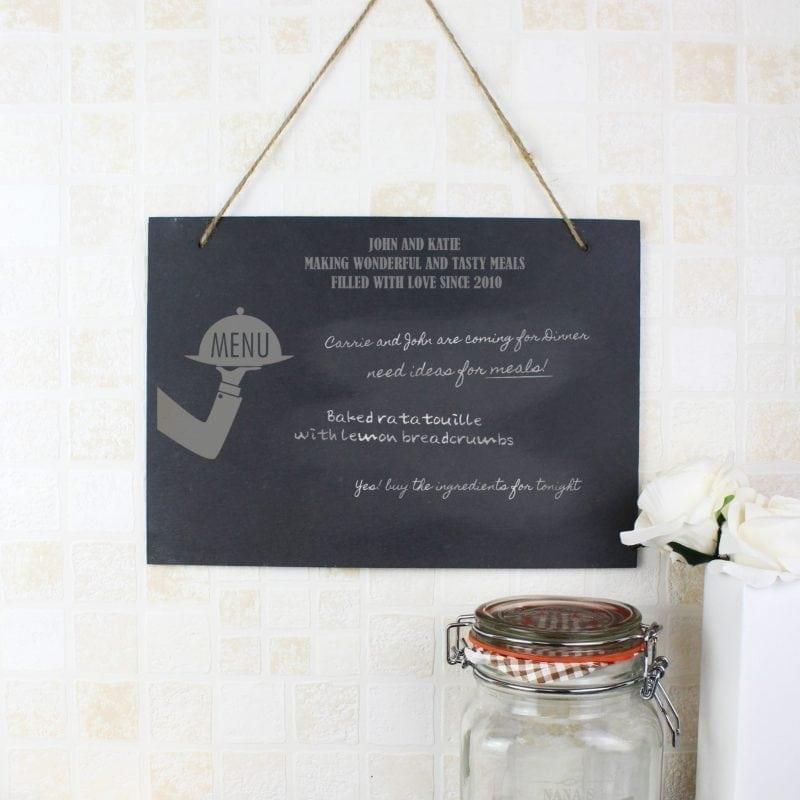 Personalised Waiter Hanging Slate Sign