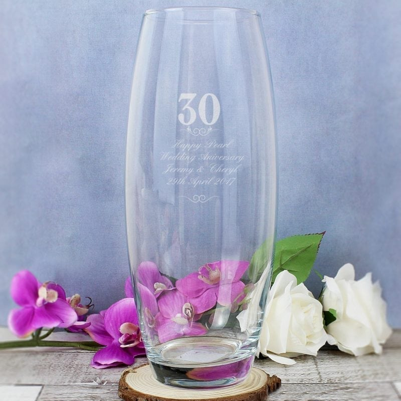 Personalised 30 Years Bullet Vase