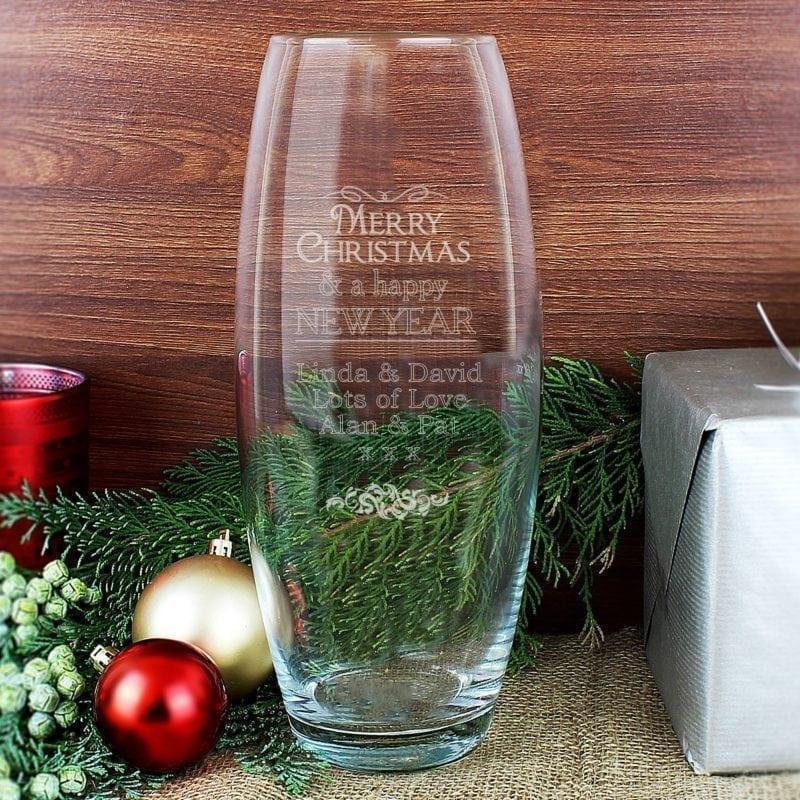 Personalised Christmas Bullet Vase