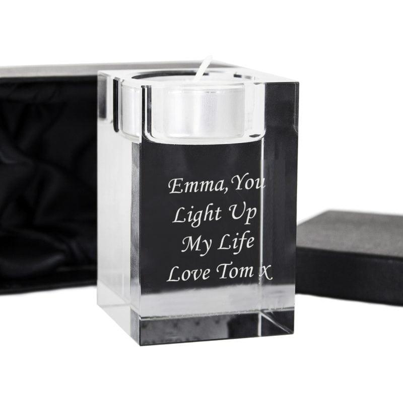 Personalised Optic Tea Light Candle Holder