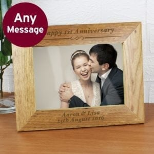 Personalised Formal 7x5 Wooden Photo Frame
