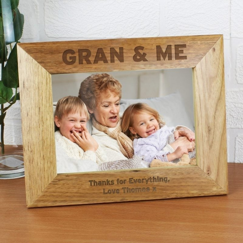 Personalised Gran & Me 7x5 Wooden Photo Frame