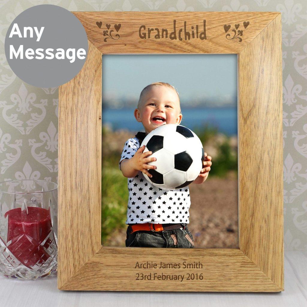 Personalised 5x7 Grandchild Wooden Photo Frame
