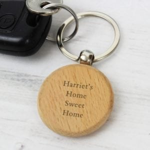 Personalised Wooden Keyring