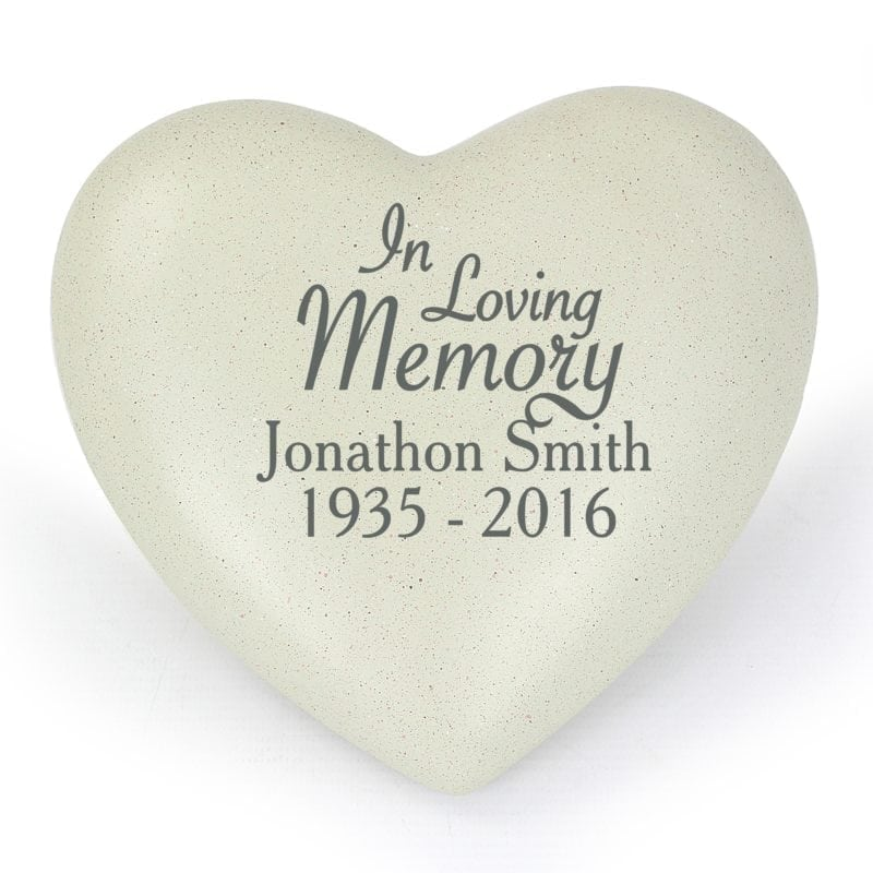 Personalised In Loving Memory Heart Memorial