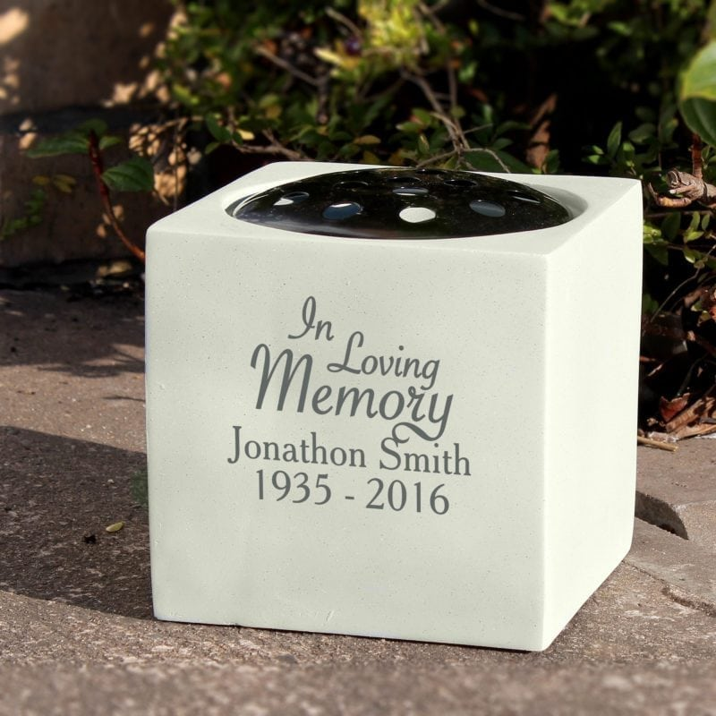 Personalised In Loving Memory Memorial Vase