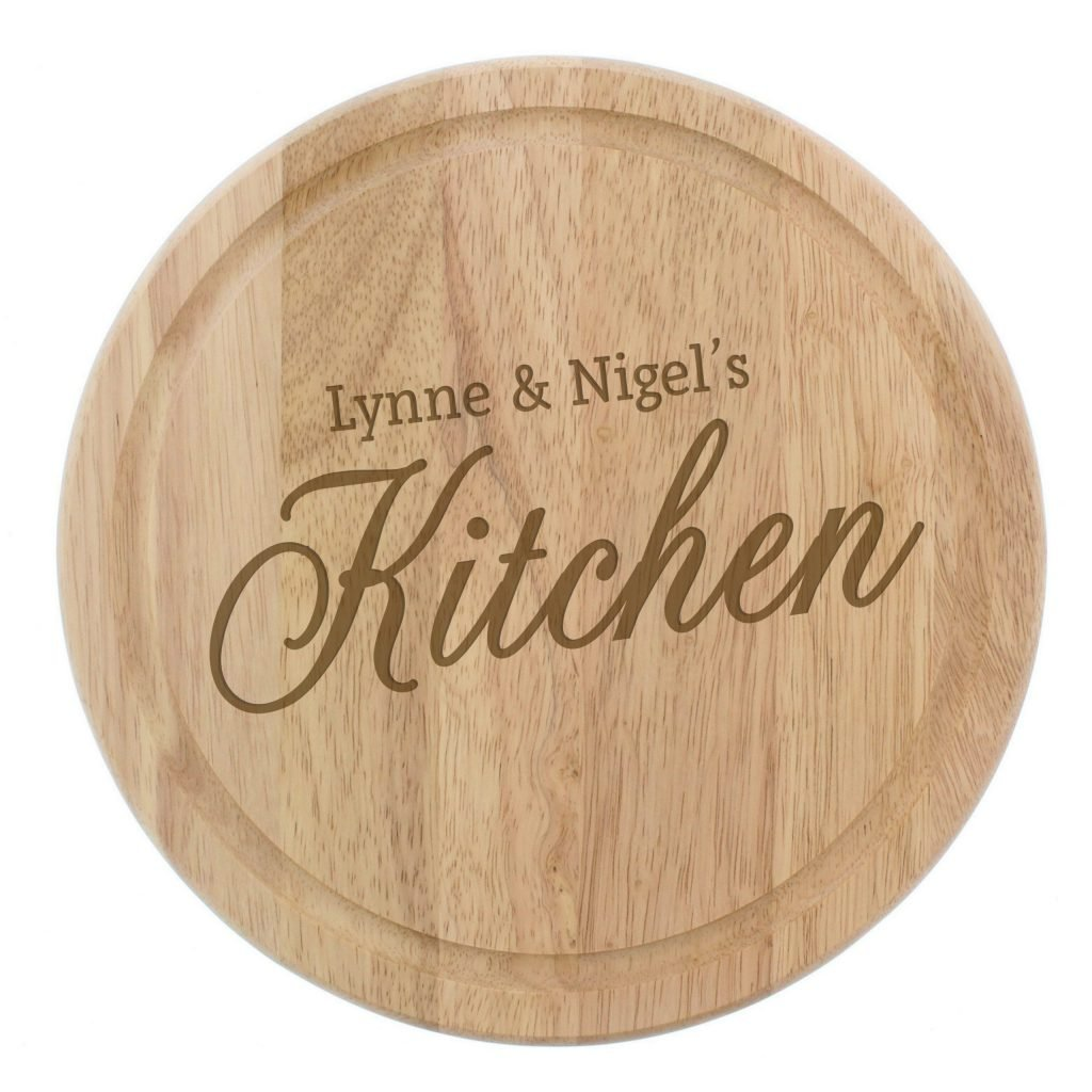 Personalised Kitchen Round Chopping Board