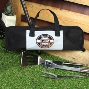 Personalised Stamp Stainless Steel BBQ Kit
