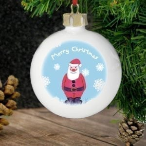Personalised Snow Scene Santa Bauble