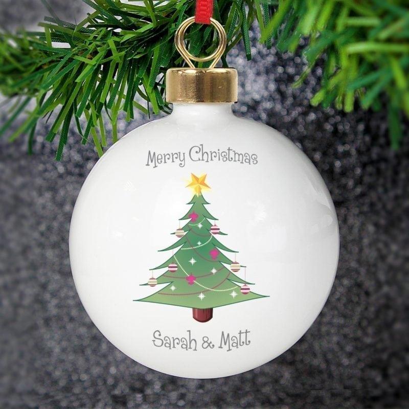 Personalised Christmas Tree Bauble
