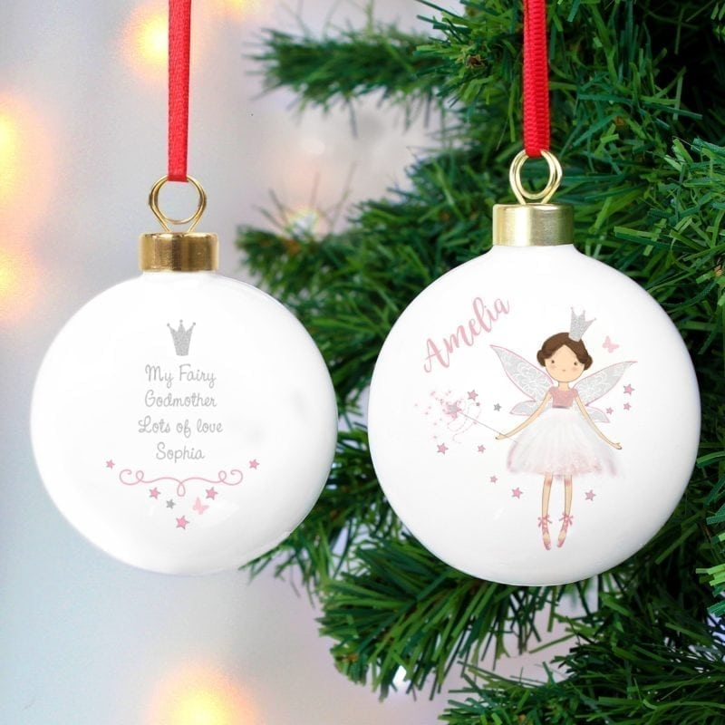 Personalised Fairy Princess Bauble