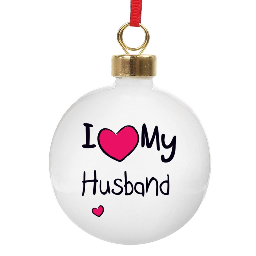 Personalised I Heart Bauble