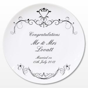 Personalised Ornate Swirl Plate