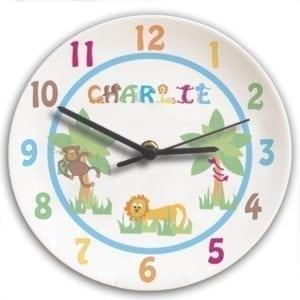 Personalised Animal Alphabet Boys Clock