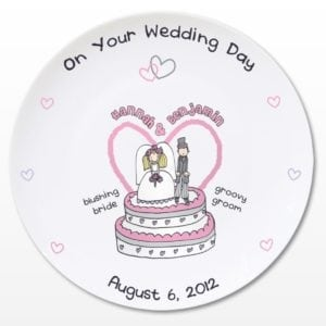 Personalised Bang on the Door Wedding Plate