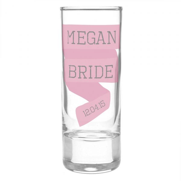 Personalised Pink Banner Shot Glass