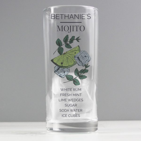 Personalised Mojito Hi Ball Cocktail Glass