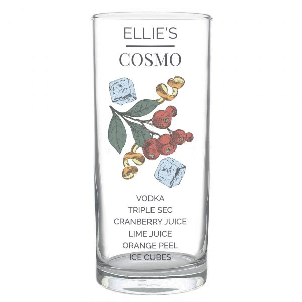 Personalised Cosmo Hi Ball Cocktail Glass