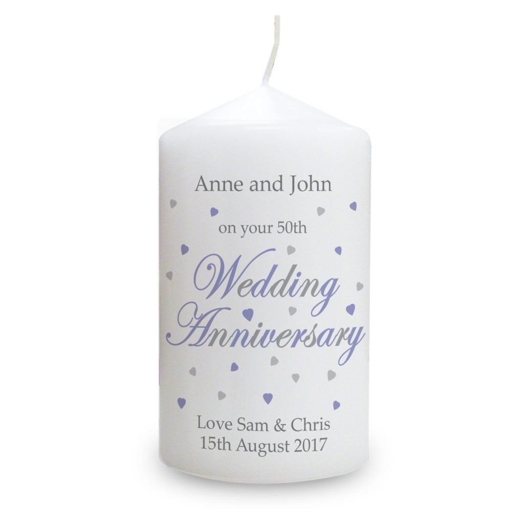 Personalised Anniversary Candle