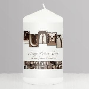 Personalised Affection Art Mummy Candle