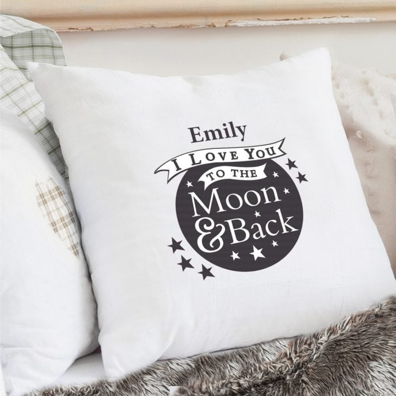 Personalised To the Moon and Back...Cream Cushion Cover
