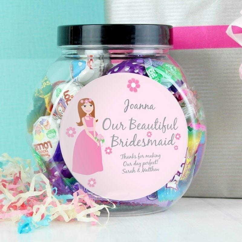 Personalised Fabulous Bridesmaid Sweet Jar