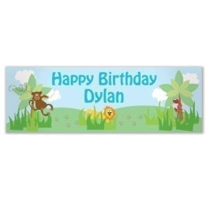 Personalised Boys Animal Banner