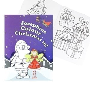 Personalised 'It's Christmas' Fairy Colouring Book